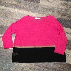 Pink sweater Ann Taylor LOFT size s